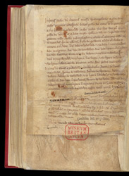 List Of Properties And A Charter, In A Collection Of Homilies By Caesarius of Arles, With Other Works